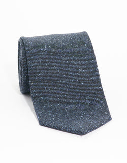 SILK WOOL DONEGAL TIE - BLUE