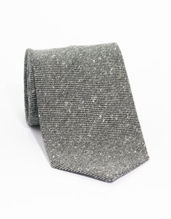 SILK WOOL DONEGAL TIE - GREY