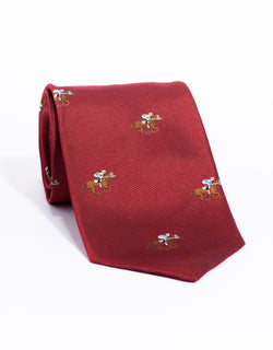 EMBLEMATIC HORSE RACING TIE - RED