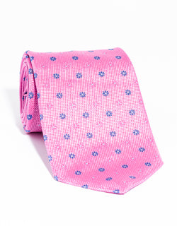 J. PRESS NEAT ON PINCHECK TIE - PINK