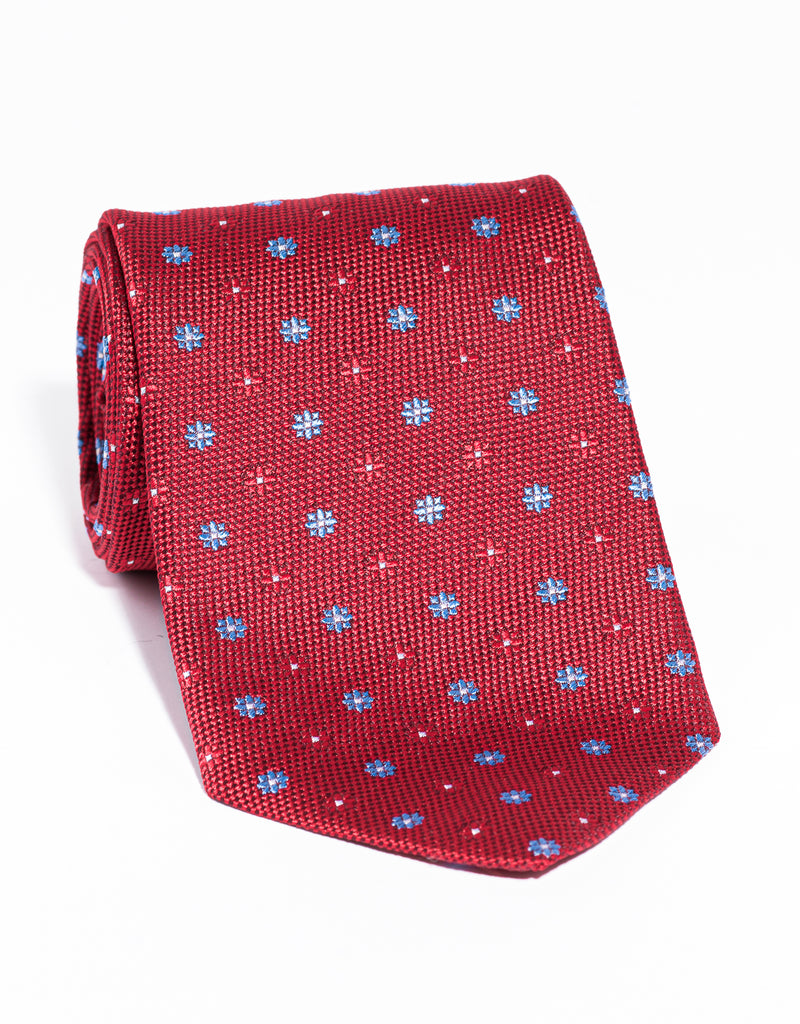 J. PRESS NEAT ON PINCHECK TIE - RED
