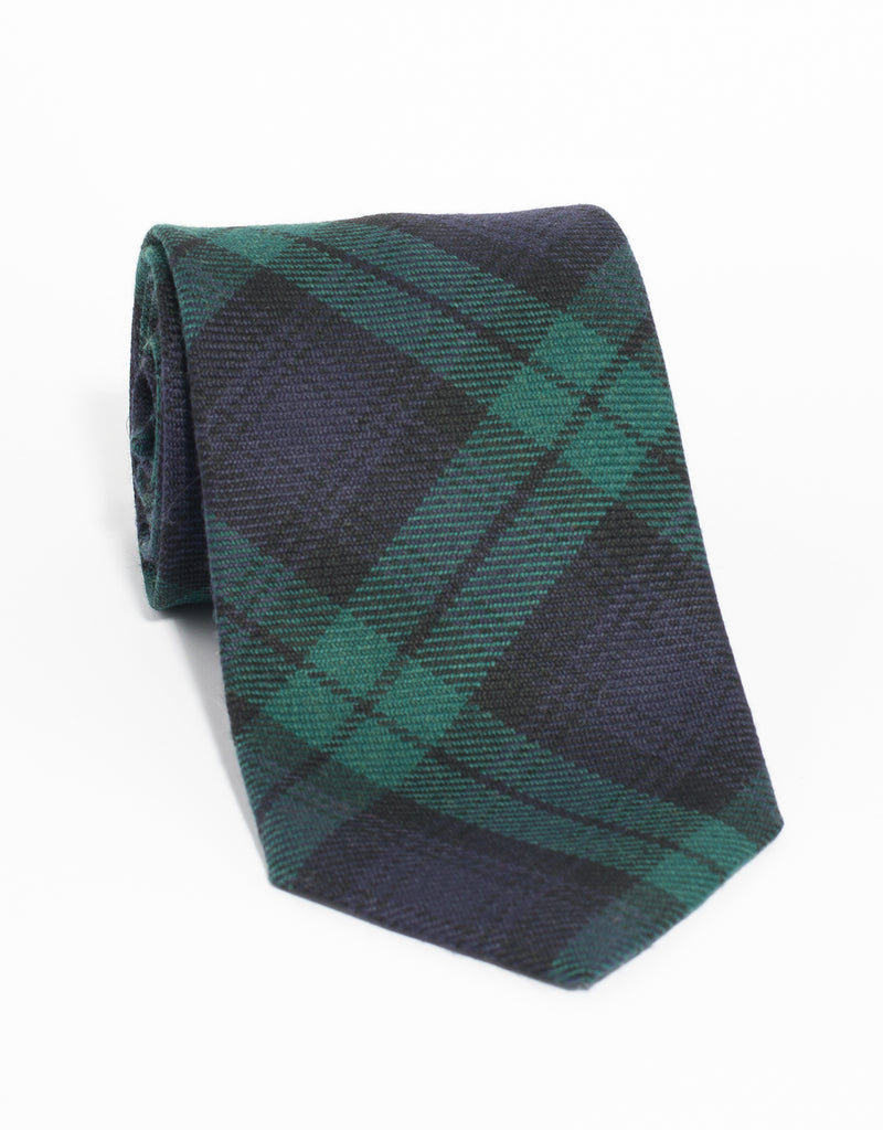 WOOL TARTAN TIE - BLACKWATCH