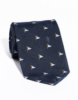 J. PRESS EMBLEMATIC FLAG TIE - NAVY