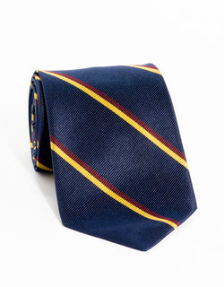 REGIMENTAL TIE - NAVY/BURGUNDY/GOLD