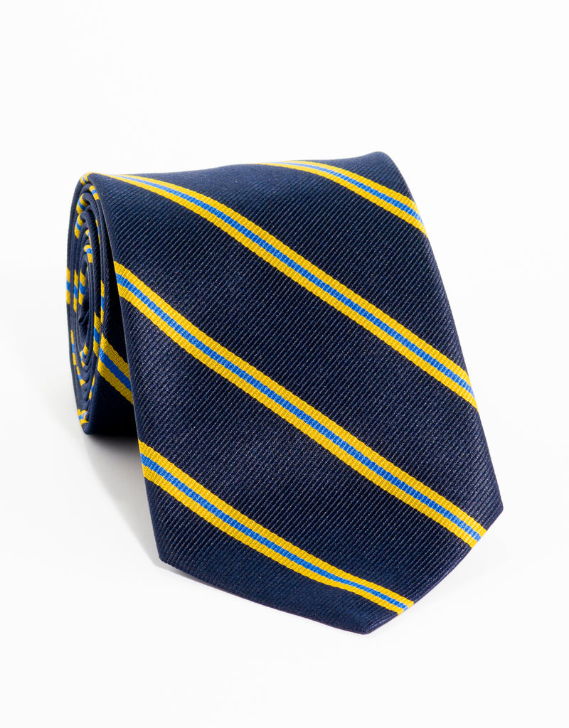 REGIMENTAL TIE - NAVY/GOLD/BLUE