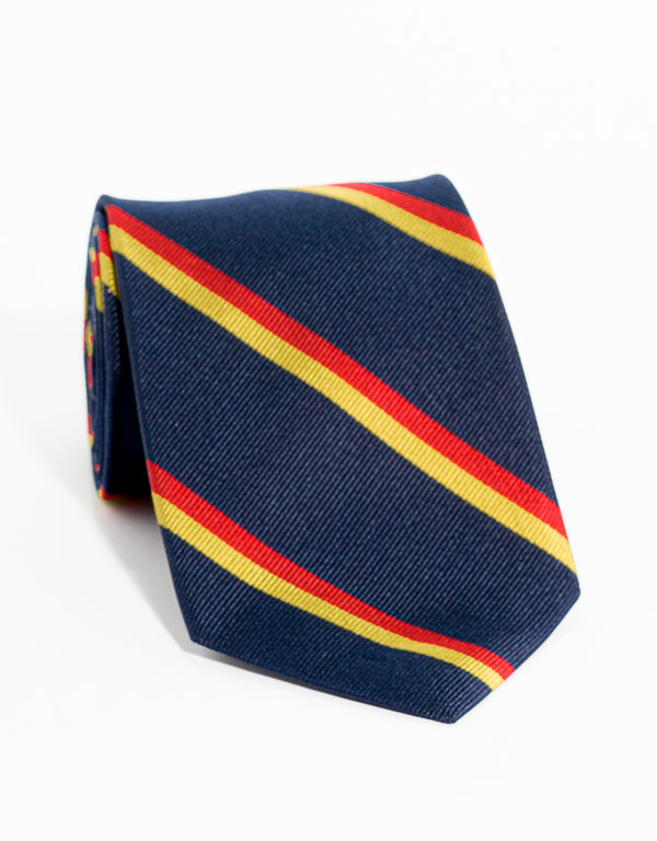 REGIMENTAL TIE - NAVY/RED/GOLD