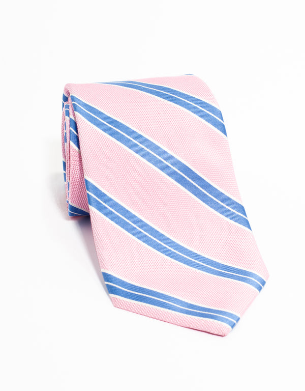 RACING STRIPE TIE - PINK