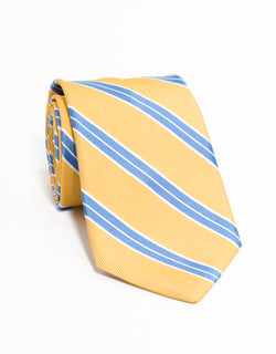 RACING STRIPE TIE - YELLOW
