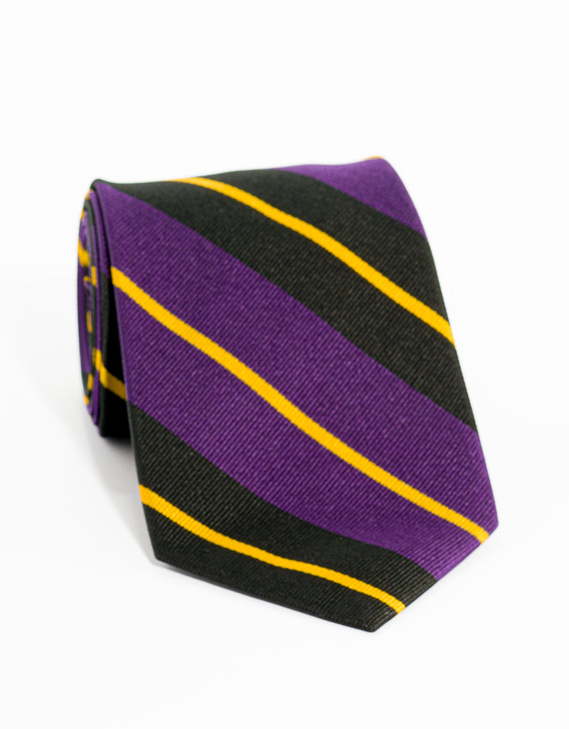 AUTHENTIC REGIMENTAL TIE - PURPLE/BLACK