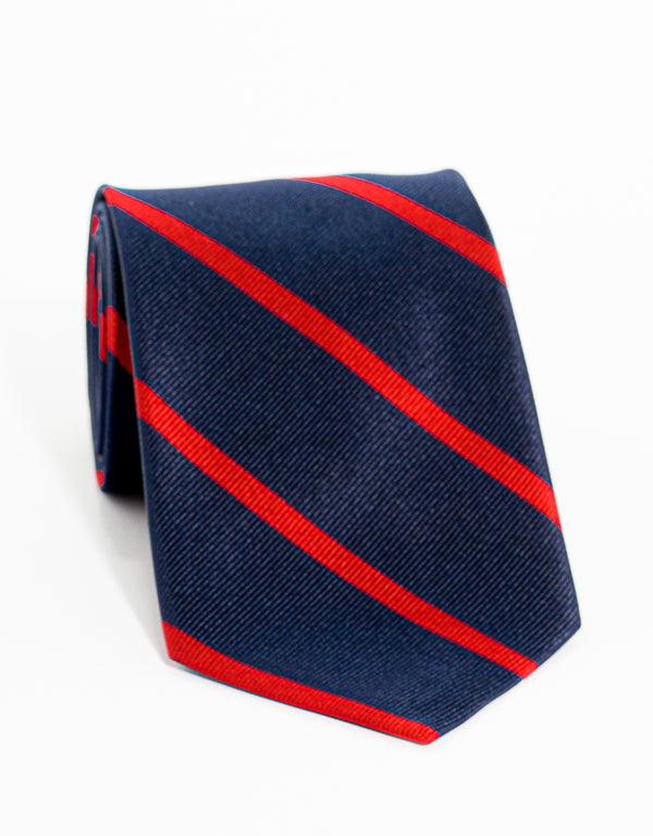 SINGLE BAR STRIPE - NAVY/RED