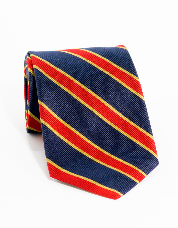 BORDER STRIPE - NAVY/RED/YELLOW