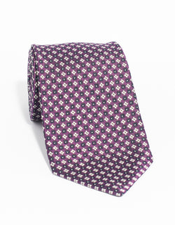 MACCLESFIELD NEAT MADE IN US TIE - PURPLE