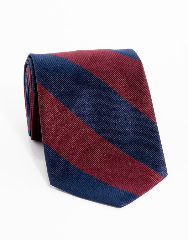 OLD SCHOOL STRIPE - NAVY/BURGUNDY