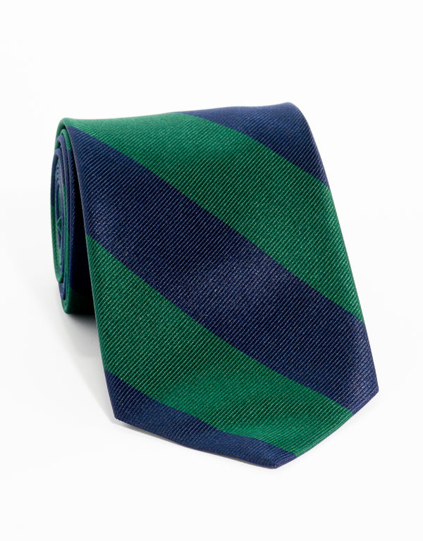 OLD SCHOOL STRIPE - NAVY/GREEN
