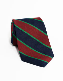 TRADITIONAL STRIPE TIE - NAVY/RED/GREEN