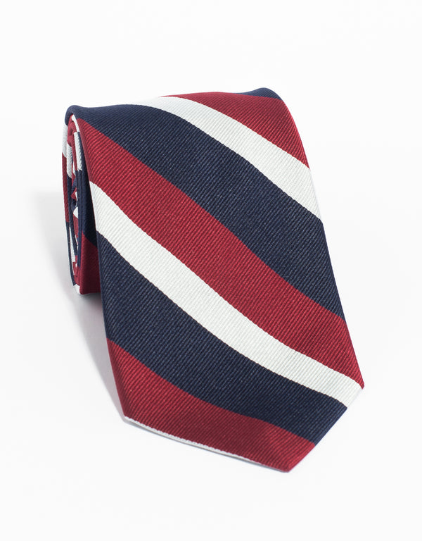 QUEENS WORCESTERSHIRE REPP TIE - RED