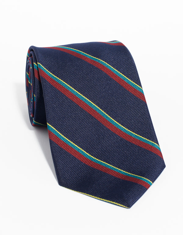 ROYAL MARINES REPP TIE - NAVY