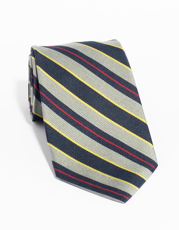 ROYAL MARINES REPP TIE - SILVER