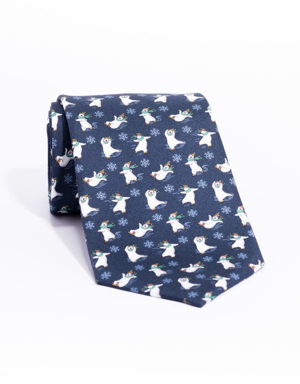 PRINTED DANCING BEARS - NAVY