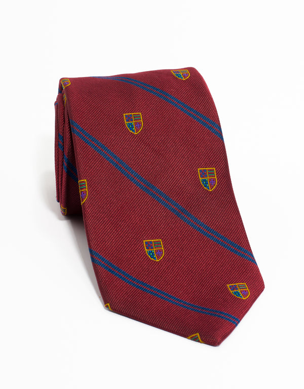 WOVEN CREST TIE - RED