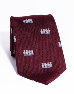 J. PRESS EMBLEMATIC MONKEYS TIE - BURGUNDY