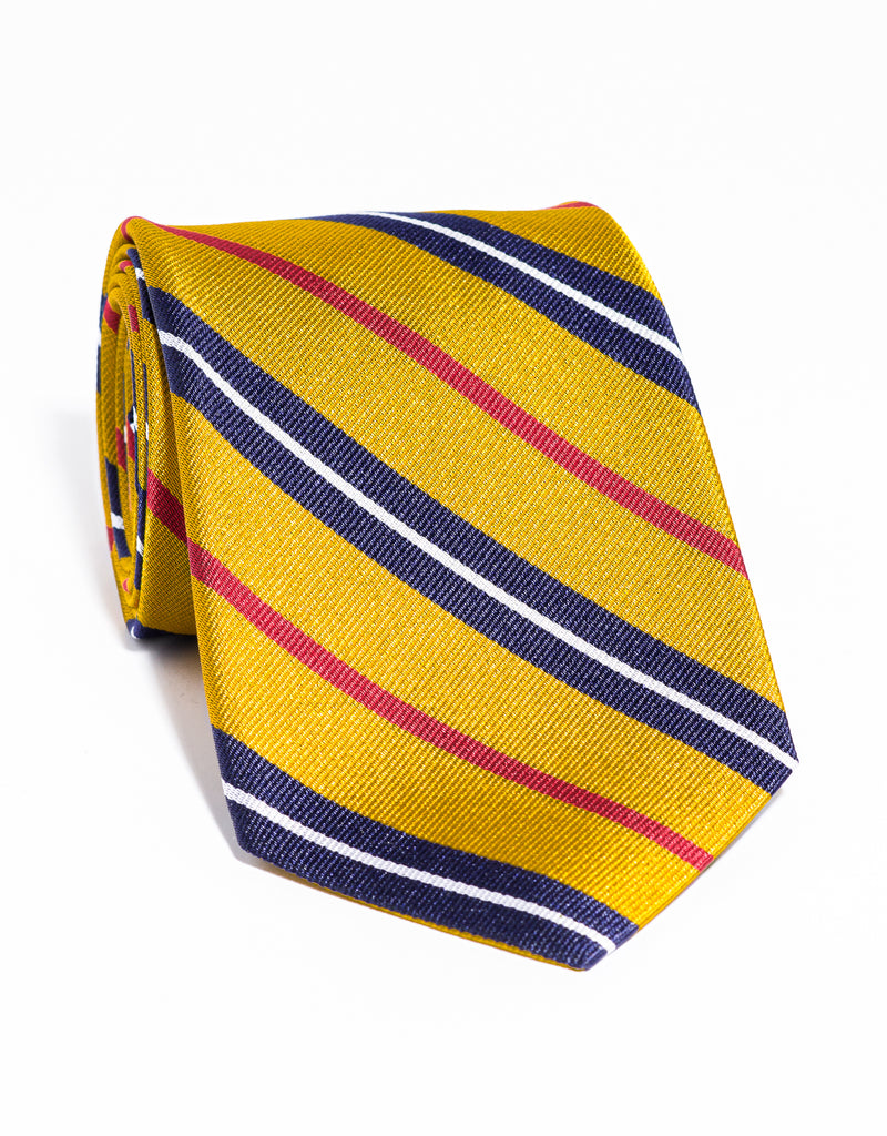 J. PRESS MULTI STRIPE TIE - GOLD