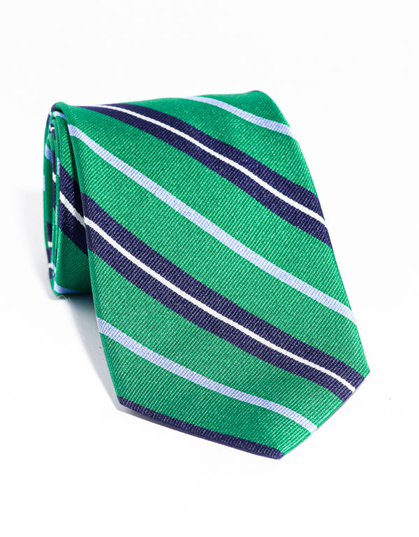 J. PRESS MULTI STRIPE TIE - GREEN