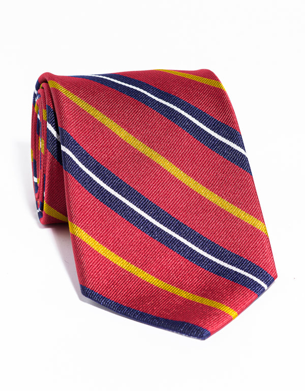 J. PRESS MULTI STRIPE TIE - RED