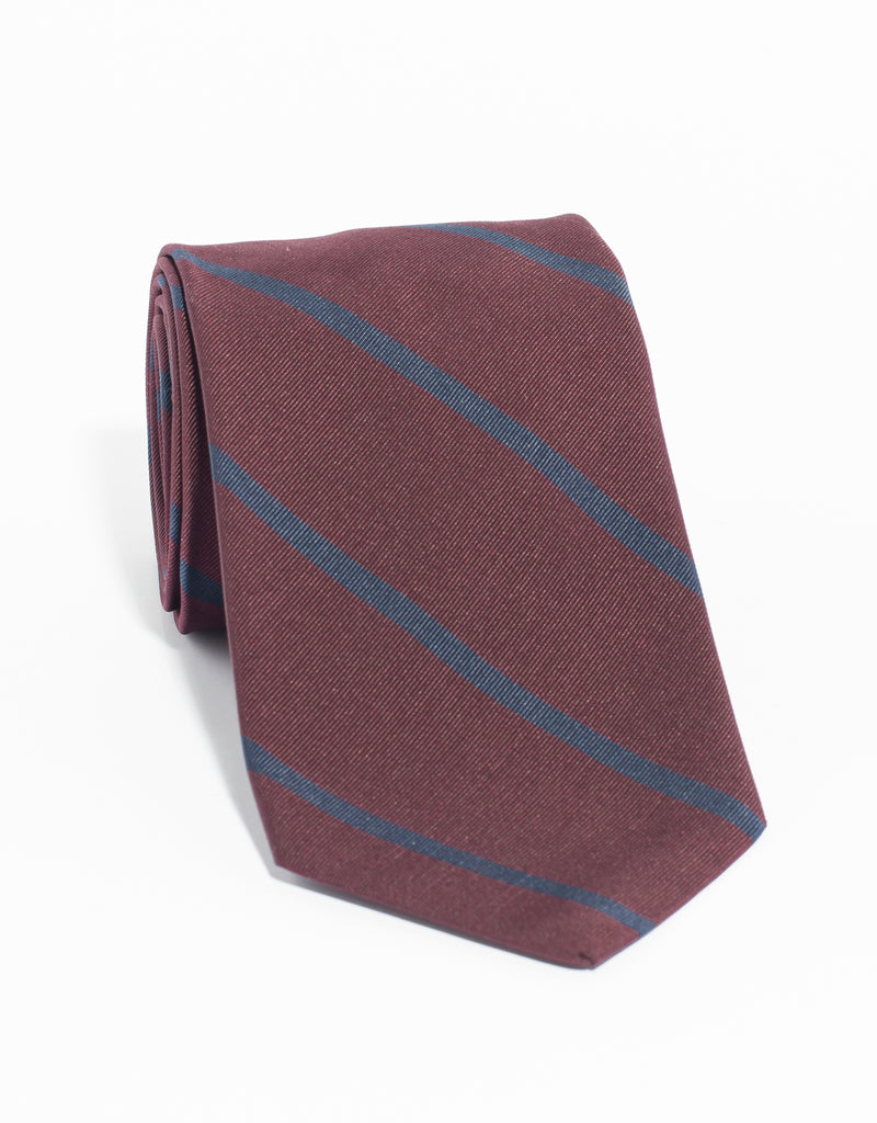 MOGADOR SINGLE BAR TIE - BURGUNDY NAVY