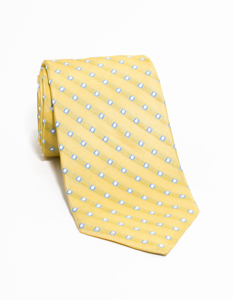 SQUARE NEAT TIE - YELLOW