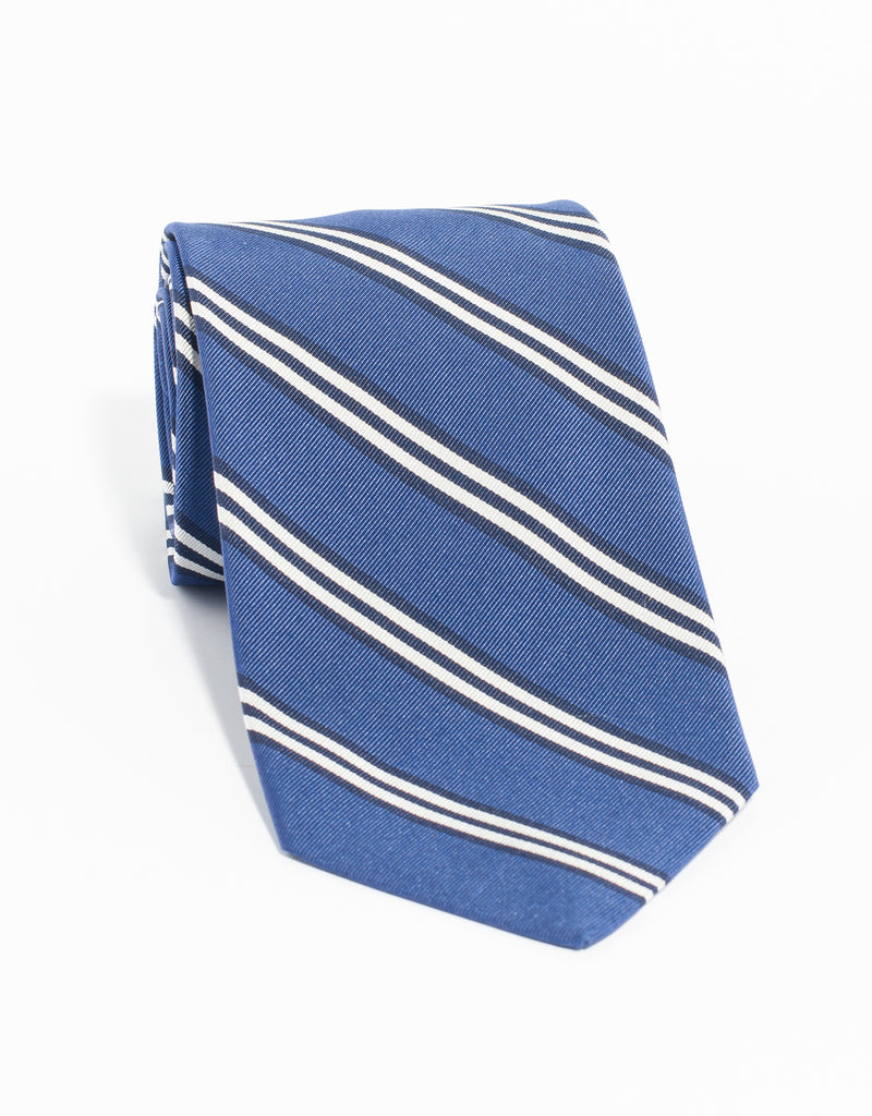 MOGADOR TRIPLE BAR TIE - BLUE