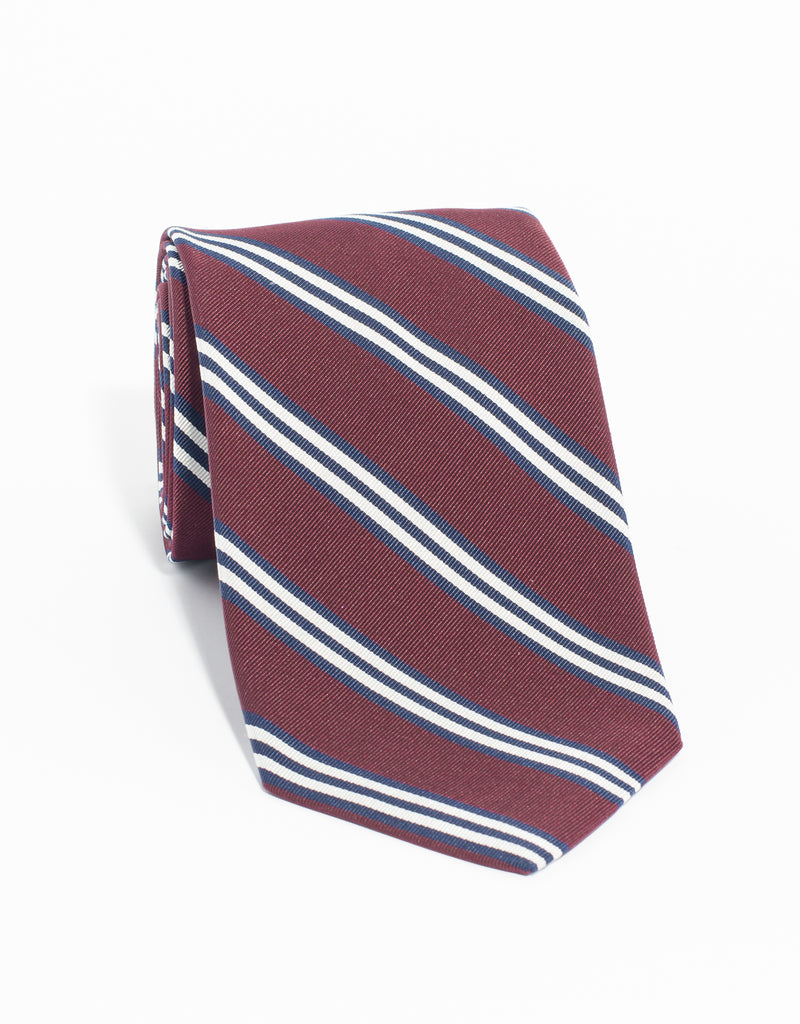 MOGADOR TRIPLE BAR TIE - BURGUNDY