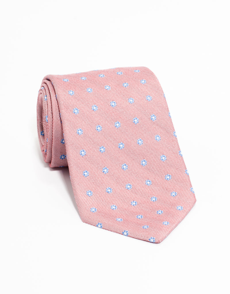FLOWER NEAT TIE - RED