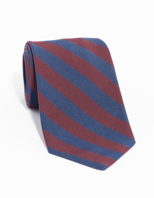 MOGADOR OLD SCHOOL TIE - NAVY/BURGUNDY