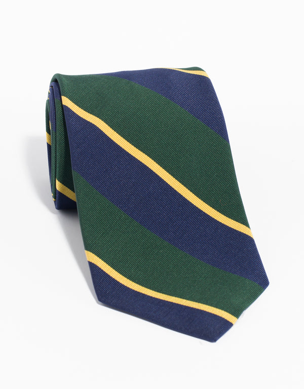MOGADOR MULTI BAR TIE - NAVY GREEN