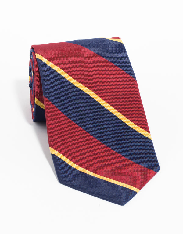 MOGADOR MULTI BAR TIE - NAVY RED