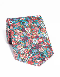 J. PRESS LIBERTY PRINT TIE - DARK MULTI