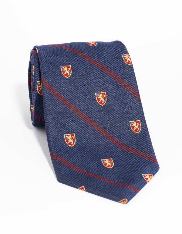 CREST WITH SINGLE BAR TIE - NAVY