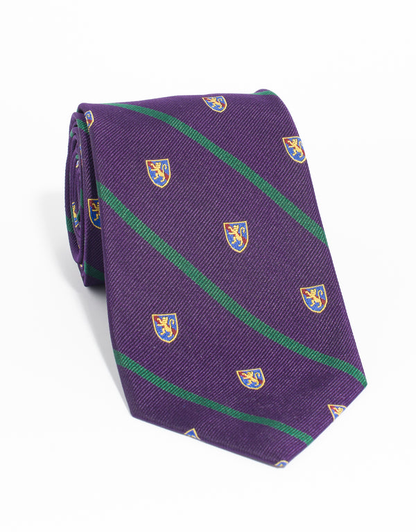 CREST WITH SINGLE BAR TIE - PURPLE