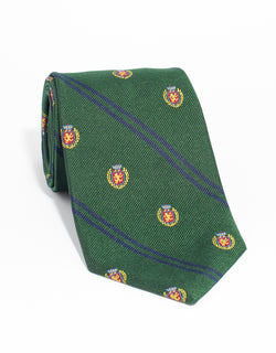 CREST WITH DOUBLE BAR TIE - GREEN