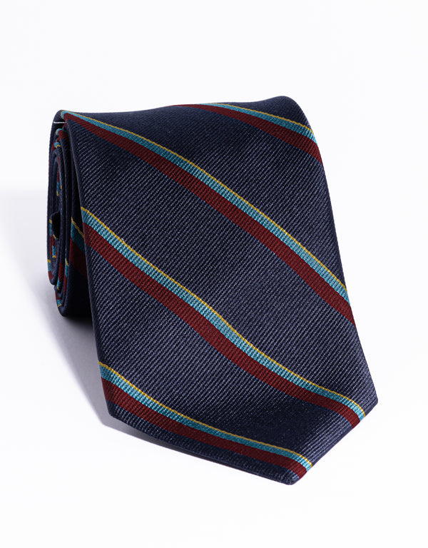 AUTHENTIC REGIMENTAL TIE - NAVY/RED/GREEN