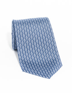 PRINTED LINKS TIE - NAVY
