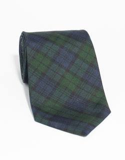 SILK TARTAN TIE MADE IN USA TIE - BLACKWATCH