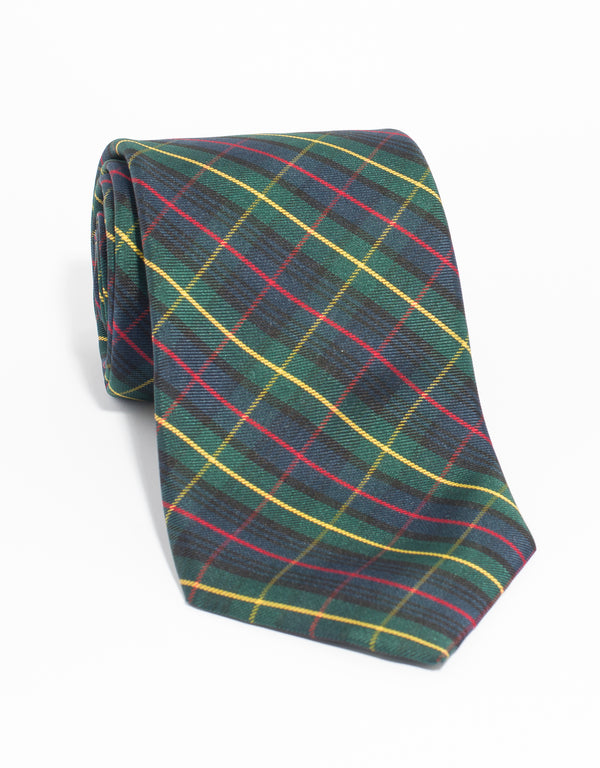 SILK TARTAN TIE MADE IN USA - FERGUSON