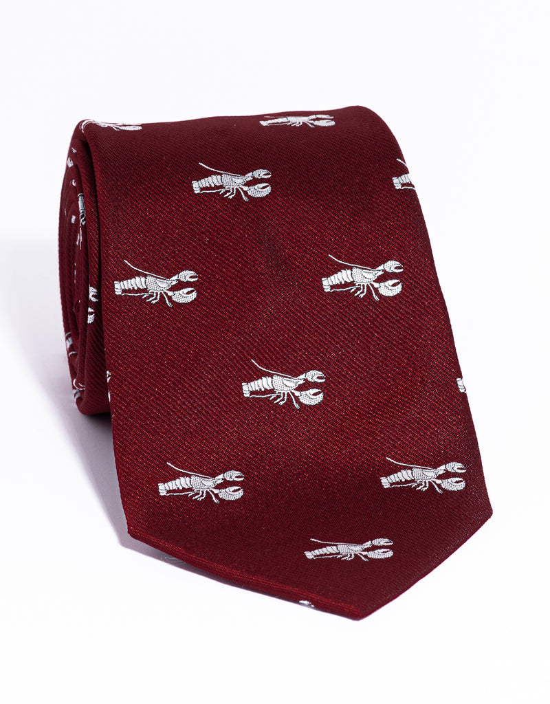 EMBLEMATIC LOBSTER TIE - RED