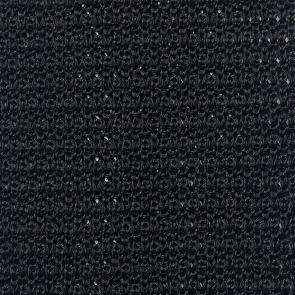 SILK KNIT TIE - BLACK