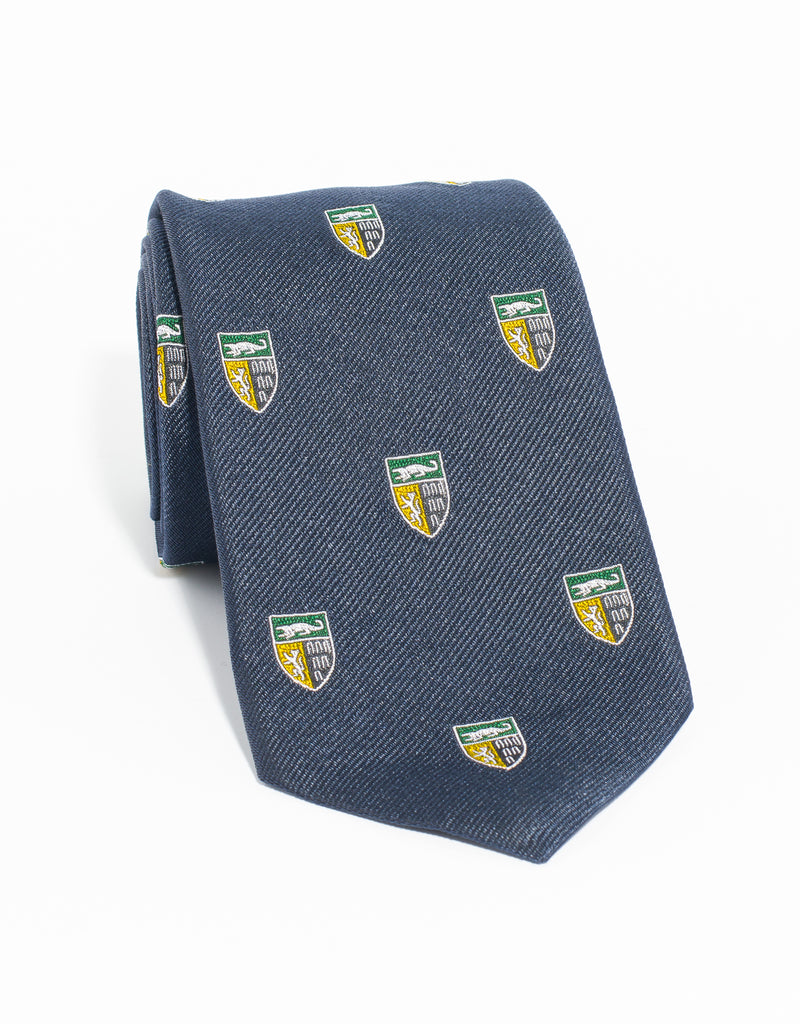 J. PRESS EMBLEMATIC YALE LAW SCHOOL TIE - NAVY
