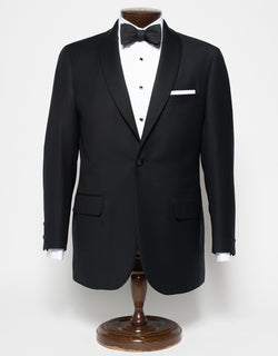 TUXEDO 1 BUTTON SATIN SHAWL COLLAR