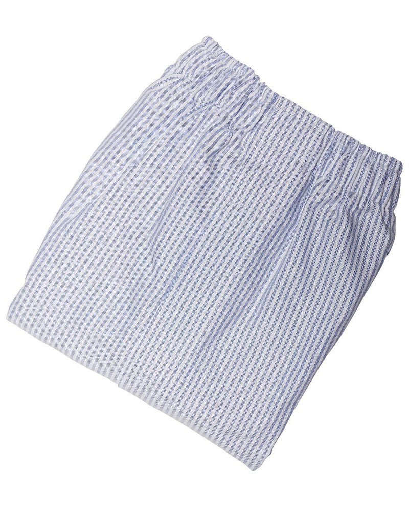BLUE/WHITE STRIPE OXFORD BOXERS