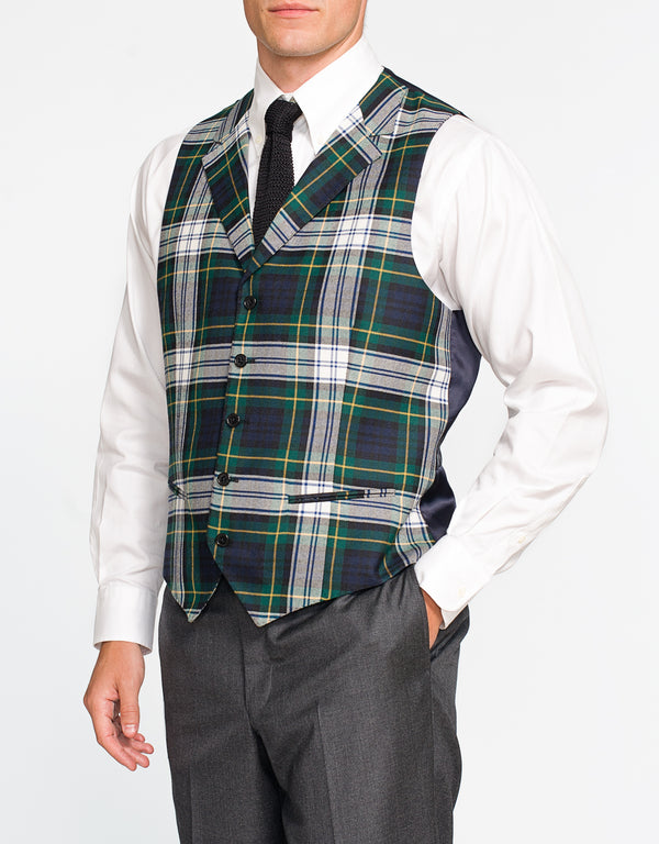 DRESS GORDON TARTAN VEST